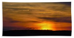 Hand Towel featuring the photograph Sabine Wetlands Sunset by John Glass