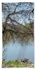 Fall At Sacramento River Scenic Photography Hand Towel
