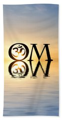 Hand Towel featuring the photograph Sacred Aum by Tim Gainey