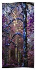 Sacred Forest Bath Towel by Amanda Eberly-Kudamik