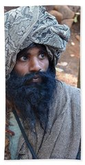 Sadhu At Amarkantak India Bath Towel