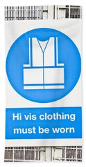 Safety Notice Hand Towel