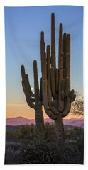 Saguaro At Sunset Hand Towel