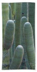 Saguaro Cacti, Oro Valley, Arizona, Usa Bath Towel