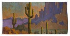 Saguaro Cactus And Apache Junction Bath Towel