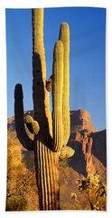 Saguaro Cactus Superstition Mountains Bath Towel