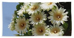Hand Towel featuring the photograph Saguaro Flower Cluster by Tom Janca