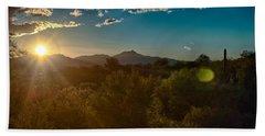 Bath Towel featuring the photograph Saguaro National Park by Dan McManus