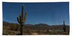 Saguaro Near Bartlett Reservoir Hand Towel