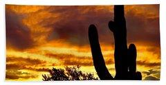 Saguaro Silhouette  Hand Towel