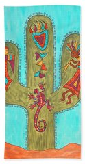 Bath Towel featuring the painting Saguaro Soiree by Susie WEBER