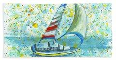Sail On Maui Hand Towel