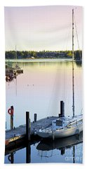 Sailboat At Sunrise Bath Towel