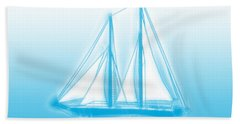 Sailboat Background Bath Towel by Methune Hively