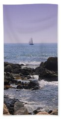 Sailboat - Maine Bath Towel by Photographic Arts And Design Studio