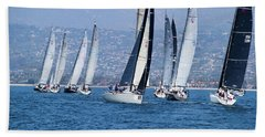 Sailboat Race In The Pacific Ocean Bath Towel