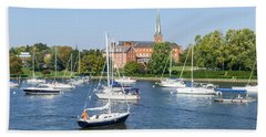 Sailboats By Charles Carroll House Hand Towel