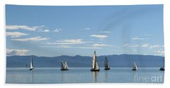 Sailboats In Blue Hand Towel
