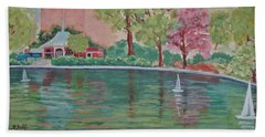 Sailin' Away In Central Park Bath Towel