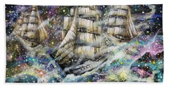 Sailing Among The Stars Bath Towel
