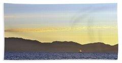 Sailing At Sunset - Lake Tahoe Bath Towel