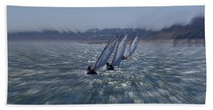 Sailing Boats Racing Bath Towel