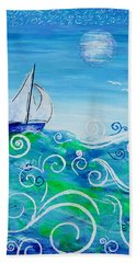Sailing By Jan Marvin Bath Towel