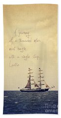 Sailing II With A Quote Hand Towel