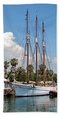 Bath Towel featuring the photograph Sailing In Barcelona by Sue Melvin