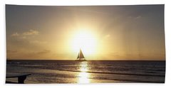 Sailing Into The Sunset Hand Towel by David and Lynn Keller