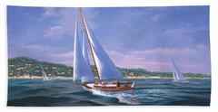 Sailing On Monterey Bay Bath Towel