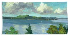 Sailing On Puget Sound Hand Towel by Diane McClary
