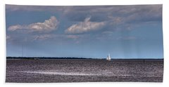 Bath Towel featuring the photograph Sailing by Sennie Pierson