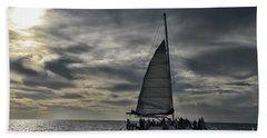 Sailing The Caribbean Bath Towel