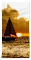 Sailing The Keys Hand Towel by Iconic Images Art Gallery David Pucciarelli