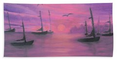 Sails At Dusk Hand Towel