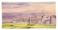Saint Andrews Golf Course Scotland - 17th Green Bath Towel by Bill Holkham