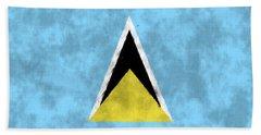 Saint Lucia Flag Bath Towel