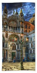 Hand Towel featuring the photograph Saint Marks Square by Jerry Fornarotto