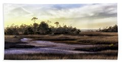 Saint Marks Wetland Sunset Bath Towel by Lynn Palmer