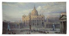 Saint Peters In Rome Bath Towel