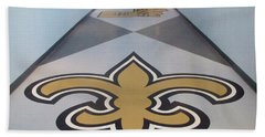 Saints Are Coming - Benson Towers - New Orleans La Bath Towel