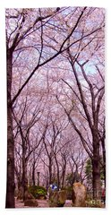 Hand Towel featuring the photograph Sakura Tree by Andrea Anderegg