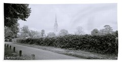 Salisbury Cathedral Bath Towel by Shaun Higson