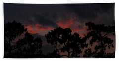 Hand Towel featuring the photograph Salmon Sunset by Greg Patzer