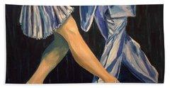 Salsa Stepping Hand Towel by Julie Brugh Riffey