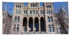 Hand Towel featuring the photograph Salt Lake City - City Hall - 2 by Ely Arsha