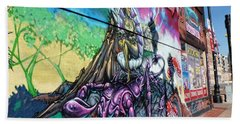 Hand Towel featuring the photograph Salt Lake City - Mural 3 by Ely Arsha