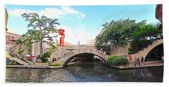San Antonio River Walk Hand Towel