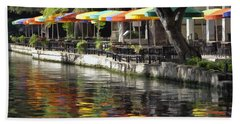 San Antonio River Walk Hand Towel